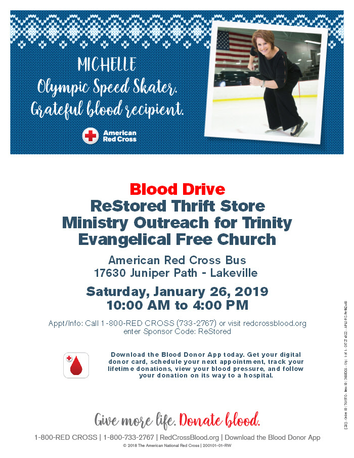 Donate Blood at ReStored January 26th 2019! - ReStored